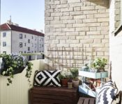 Inspiring Apartment Balcony Ideas White Fence Brown Wall Porch Plants Cheap Make A Chairs