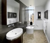 Pretty Apartment Bathroom Decorating Ideas Gray Wall Vynill Floor Kids Renovation Diy For Spaces